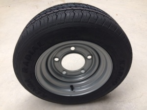 185/60 R12C  tyre,on 5 stud 6.5'' PCD wheel assembly