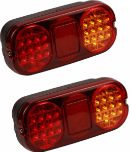 Pair of Led tail lamps to suit JCB - with Socket