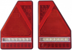 Led Tail Lamp Pair - 5 Function