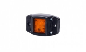 Led Amber marker lamp with protective rubber surround 12/24v