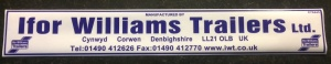 Ifor Williams Trailers  Address Sticker/decal self-adhesive  400 x 60mm