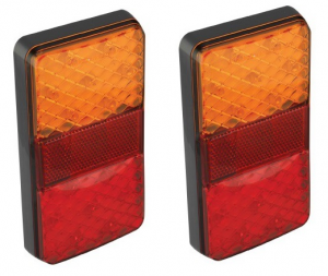 Led Autolamps 150BARE2 150mm x 80mm 12V (PACK OF 2)