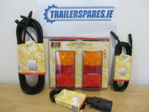 Led Autolamps 6.5m trailer lighting kit with 12v 150mm x 80m lamps. ledkit150