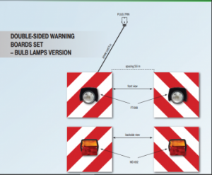 Bulb Warning board set for Agri Machines (front and rear lamps)