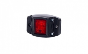 Led Red marker lamp with protective rubber surround 12/24v