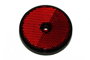 Round red reflector with mounting hole - Pack of 2 (mp854)