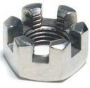 3/4 Axle End Nut - replaces Ifor Williams 10 Slotted F1099s nut