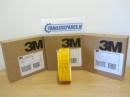 Genuine 3M ECE 104 Reflective Tape - Yellow.  (50m roll)