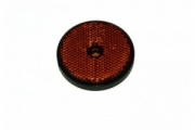 Round Amber reflector with mounting hole - Pack of 2 (mp155)