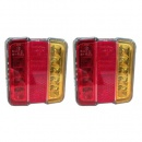 4'' Square LED Tail Light Pair (LG529)