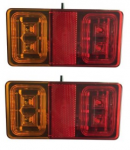 Rectangular Tail Light Pair (LG533)