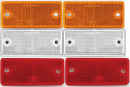 Reflector 6 pack - Self adhesive with bolt holes.