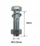 High Tensile Towball Bolt and Nut - M16 x 65mm (mp248tp)